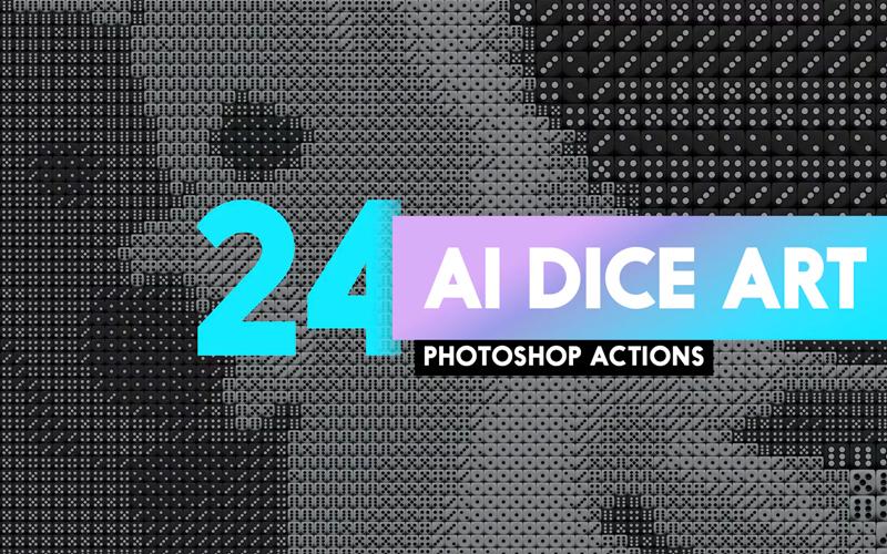 24 Ai Dice Photoshop Actions