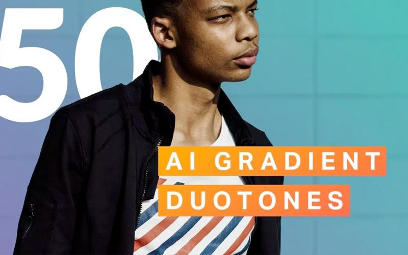 Gradient Duotone Photoshop Actions