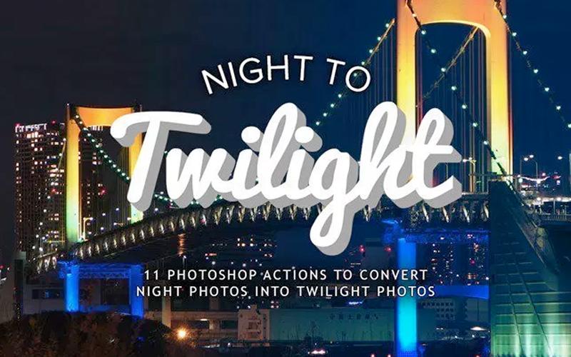 Photoshop Actions To Turn Night Photos Into Twilight Photos