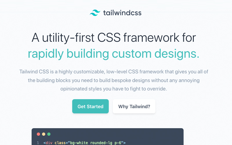 Tailwind Css A Highly Customisable Low Level Css Framework