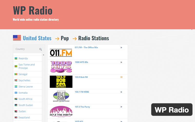 Wp Radio Worldwide Radio Station Directory