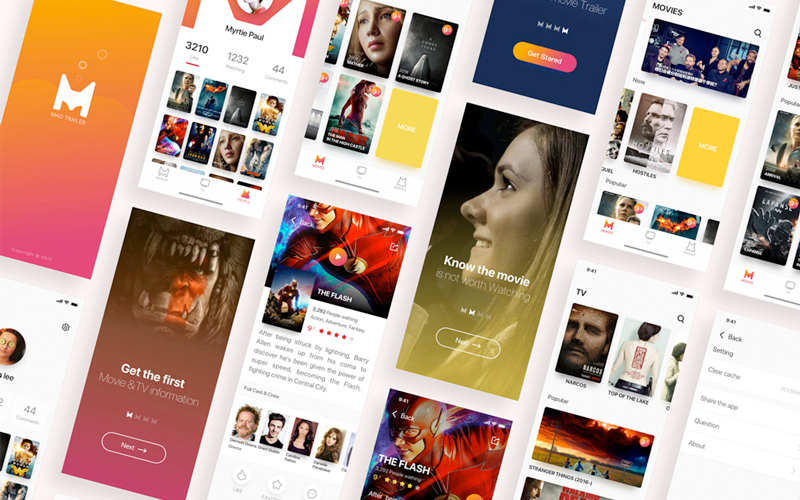 Movies App Ui Kit Sketch Resource