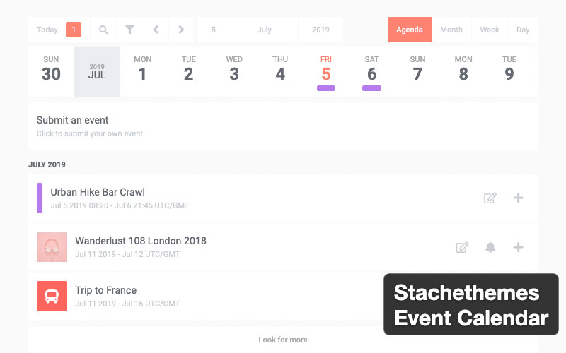 Stachethemes Event Calendar Is A WordPress Events Calendar Plugin