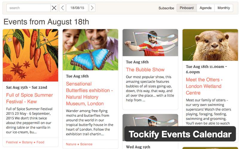 Tockify Events Calendar