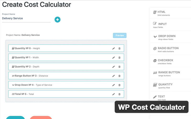 Wp Cost Calculator