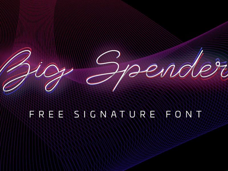 Big Spender Free Signature Font