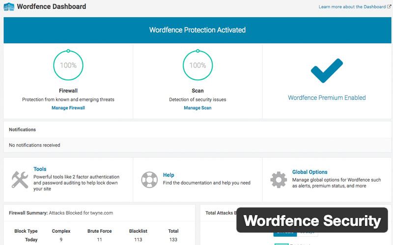 Wordfence Security Firewall & Malware Scan Plugin