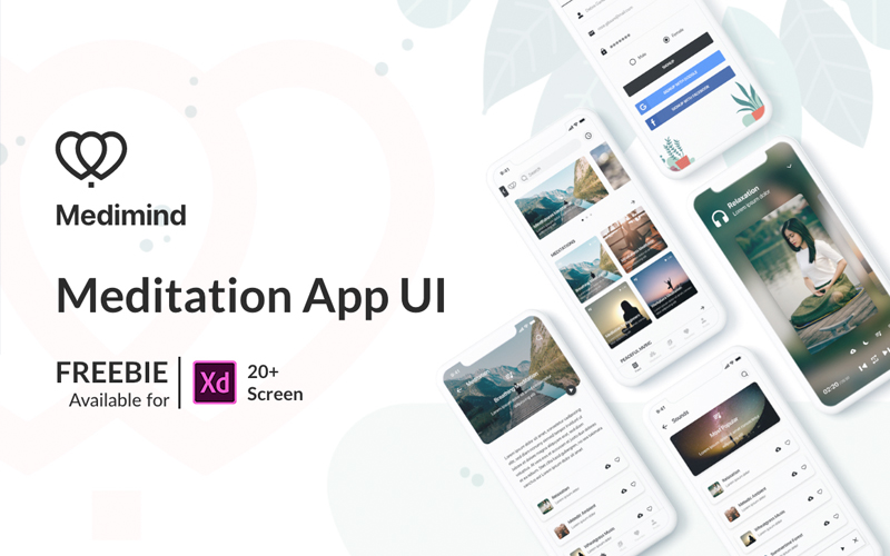 Free Meditation App Ui Kit