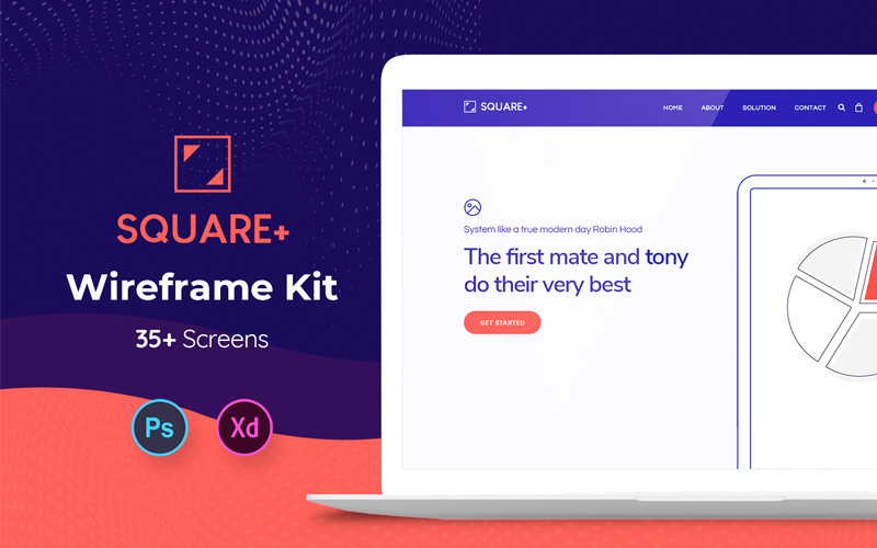 Square Web Wireframe Kit