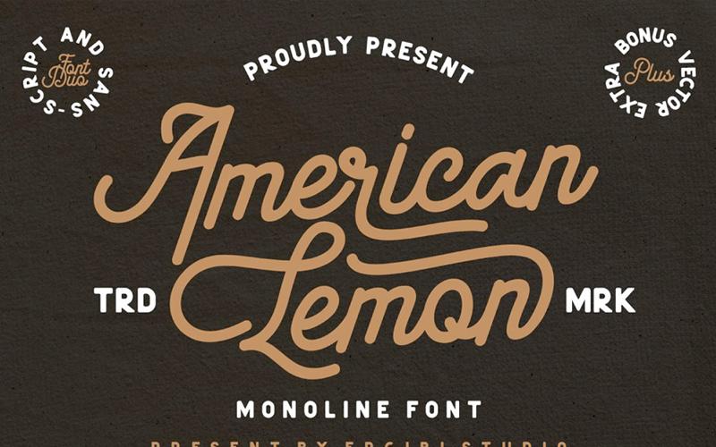 American Lemon Monoline Font