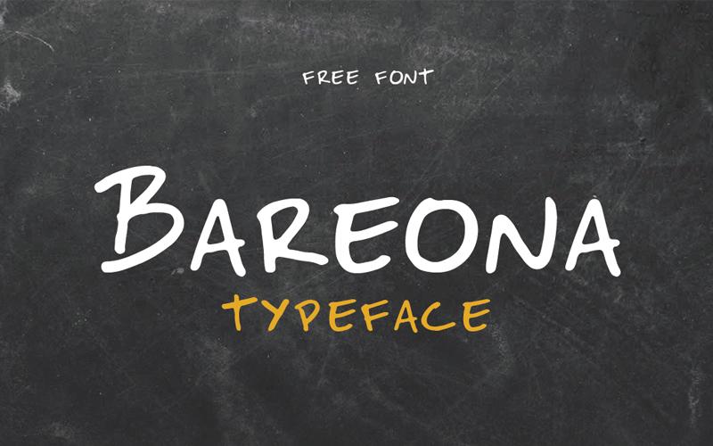 Bareona Free Handwritten Font