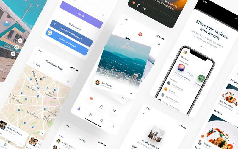 Inter Mobile App Ui Kit