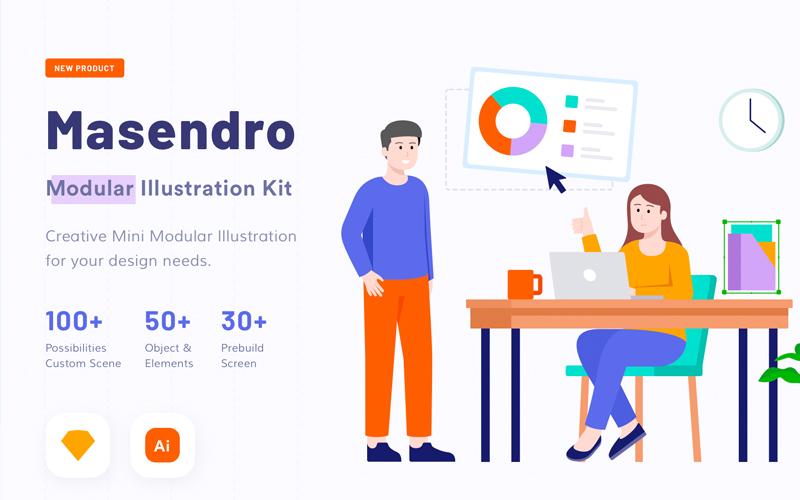 Masendro Illustration Kit