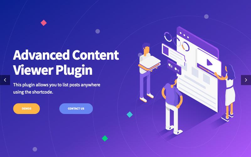 Advanced Content Viewer Plugin For WordPress